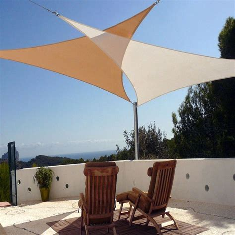 how much are shade sails two triangles shade sails terraza or patios pinterest