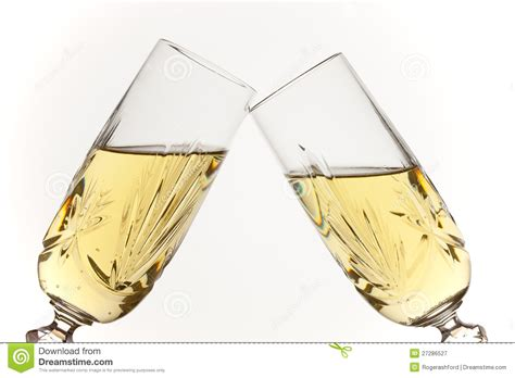 Champagne Glasses Toasting Royalty Free Stock Photography