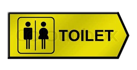 toilet sign  white stock photo colourbox