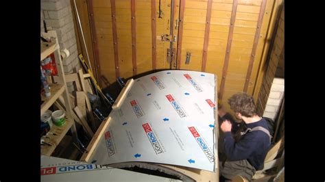 day teardrop trailer build gluing  galley   aluminum composite panel youtube