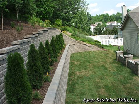 terraced retaining wall agape retaining walls inc terrace photo album 2