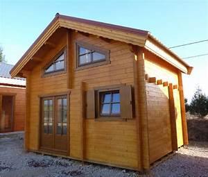Garage Bois 20m2 : chalet de 20m2 avec mezzanine chalet en bois ~ Melissatoandfro.com Idées de Décoration