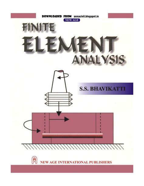a course in finite elements finite element analysis s s bhavikatti