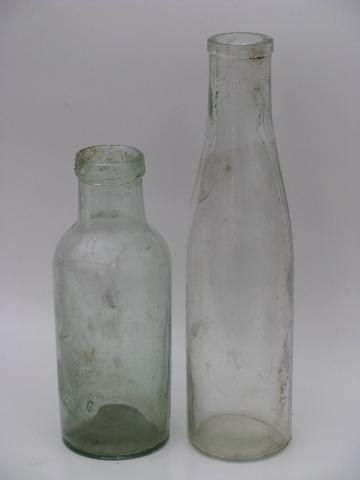 lot  antique glass jars vintage condiment olive