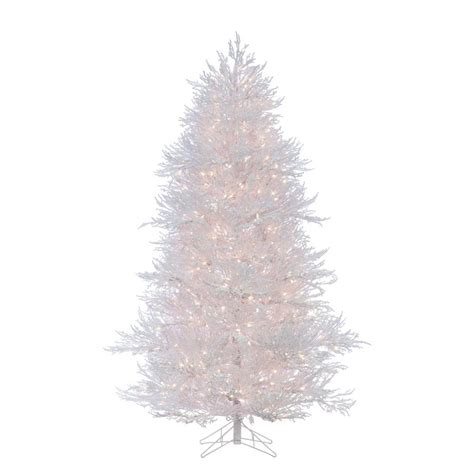 sterling nine foot flocked led trees sterling 7 ft lightly flocked white twig artificial tree with 650 clear lights 5873