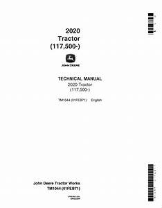 John Deere 2020 Tractor Tm1044 Technical Manual Pdf