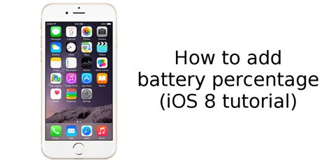 how to display battery percentage on iphone here s how to display battery percentage on apple iphone 6