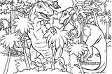 Coloring Pages Dinosaur Jurassic Drawing Dinosaurs Printable Rex Park Prehistoric Adults Dino Realistic Difficult Lets Amusement King Getdrawings Resolution Bird sketch template
