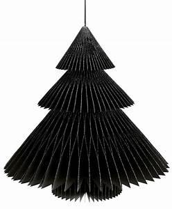 Sapin En Papier Plié : sapin deco noir en papier 22cm ~ Melissatoandfro.com Idées de Décoration