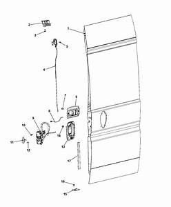 Rear Door Latch  U0026 Handle For 2014 Ram Promaster 1500