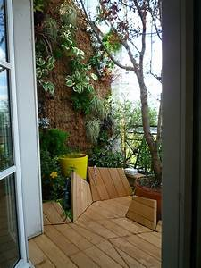 Amenager Petit Balcon Appartement : am nagement d 39 un balcon en nid douillet paris les ~ Zukunftsfamilie.com Idées de Décoration