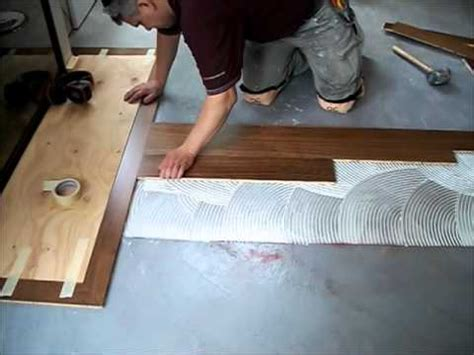 how to install hardwood floors with glue hardwood flooring how to install hardwood floors glue down mryoucandoityourself youtube