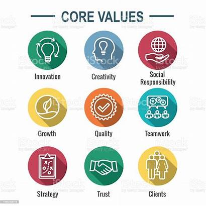 Values Core Icon Integrity Purpose Line Outline