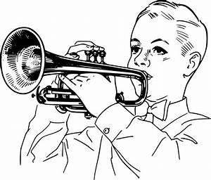 Trumpet Clip Art Black And White | Clipart Panda - Free ...