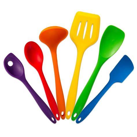 bright colored kitchen utensils true craftware multi colored silicone kitchen utensil 4905