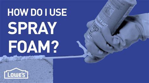 How Do I Use Spray Foam?  Diy Basics  Youtube