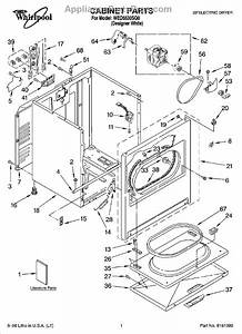 Parts For Whirlpool Wed5530sq0  Cabinet Parts