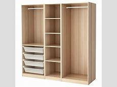 PAX Wardrobe White stained oak effect 200 x 58 x 201 cm IKEA