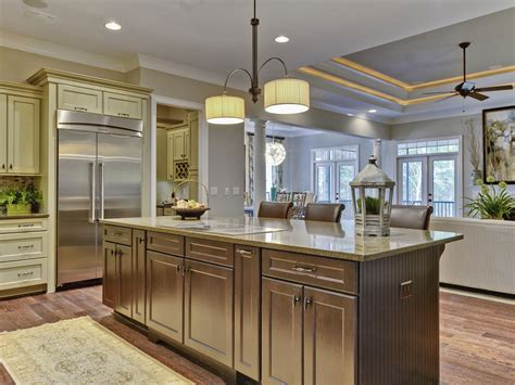 large kitchen designs with islands lighting wall color accessible beige by sherwin williams love the pops of greenery dream