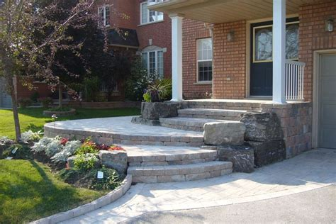 bricks for front yard front entrance landscaping front yard landscaping interlocking brick exterior of the home