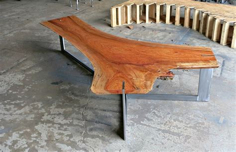 hand crafted jatoba  edge coffee table  donald mee