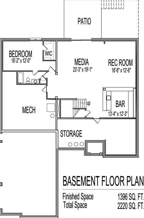 Awesome Home Plans With Basements #13 2 Bedroom House