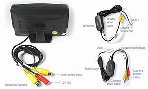 4 3 Inch Monitor 12v Wireless Car Reversing Camera Kit