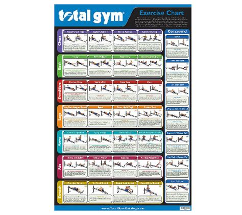 total gym wall chart   exercises page  qvccom