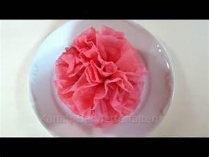 Rose Aus Serviette Drehen : servietten falten rose blume einfache deko f r hochzeit youtube ~ Frokenaadalensverden.com Haus und Dekorationen