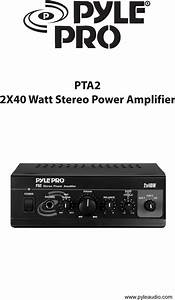 Pyle Audio Stereo Amplifier Pta2 User Guide