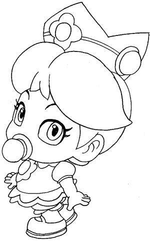 draw baby princess daisy  wii mario kart art