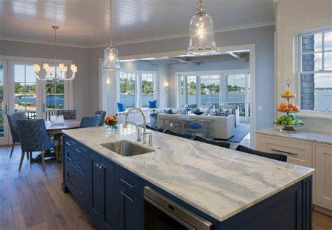 Blue Countertop Kitchen Ideas by Coastal Interior Design Ideas Home Bunch Interior Design