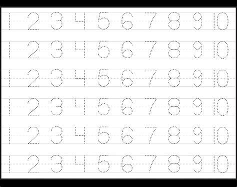 elegant number  tracing worksheets  preschool fun