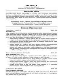 project manager resume template premium resume sles