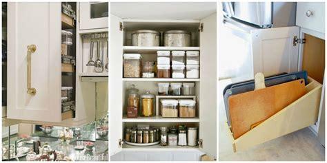organizing kitchen cabinets storage tips  cabinets