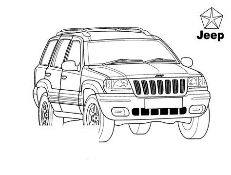 disegni da colorare jeep grand