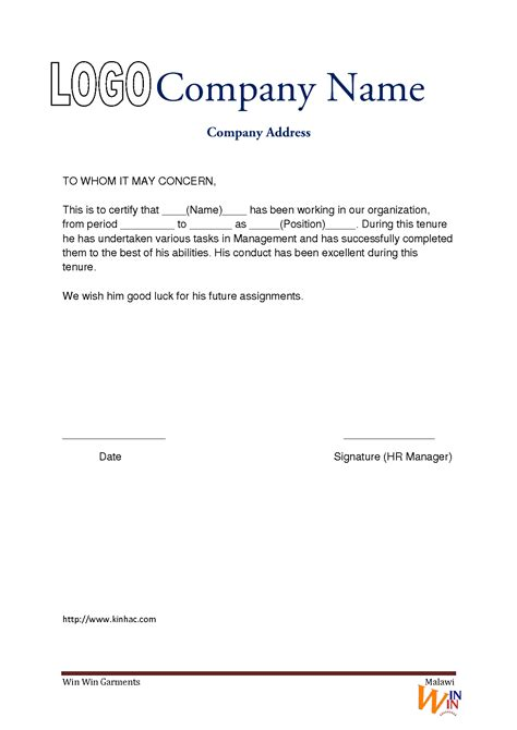 experience letter template image   sample templates