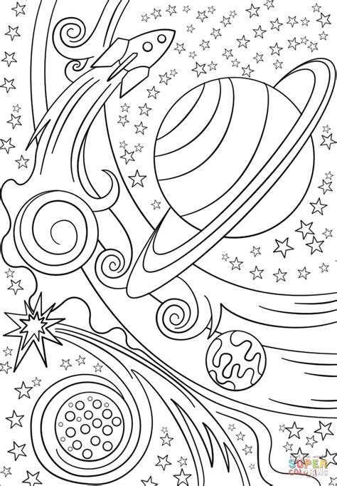 ideas  outer space coloring pages  adults