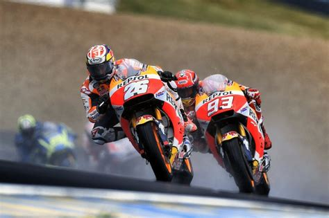 mixed results  repsol honda team  cold  wet le