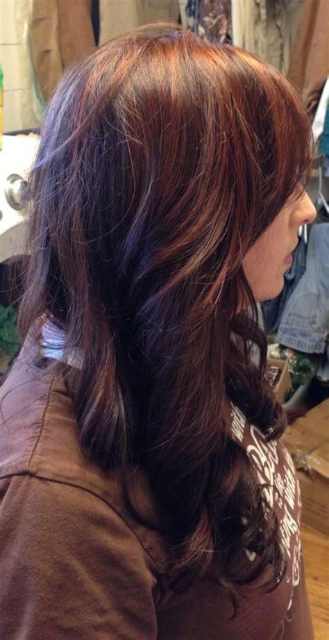 braune haare mit roten strähnen 15 frisuren dunkelblonde haare mit str 228 hnen