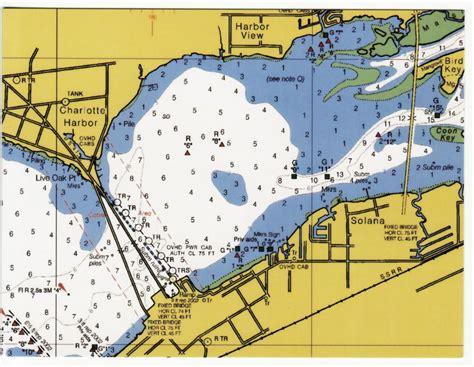 l shades port charlotte fl postcard repro port charlotte fl nautical harbor map ebay