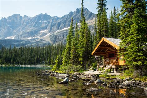 lake cabin rocky mountain cabins at lake o hara lodge