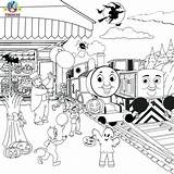 Train Thomas Coloring Pages Drawing Halloween Printable Friends Cartoon Tracks Diesel Railroad Colouring Sheets Activities Printables Christmas Template Tank Engine sketch template