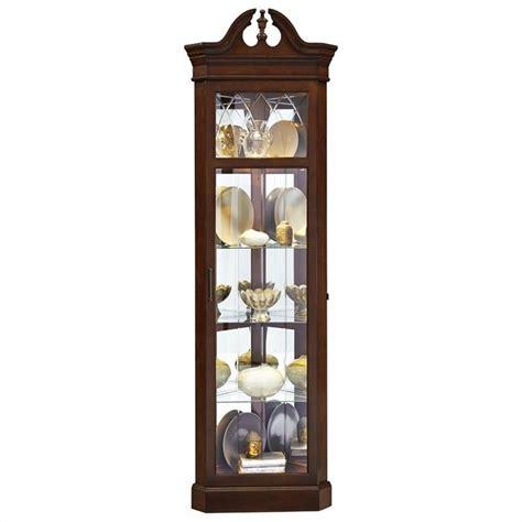 lighted curio cabinet walmart pulaski corner dark wood curio cabinet ebay