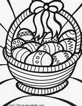 Coloring Easter Basket sketch template