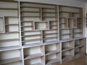 Fabriquer Une Bibliothèque Murale : biblioth que m diath que rangement menuisier blagnac ~ Louise-bijoux.com Idées de Décoration