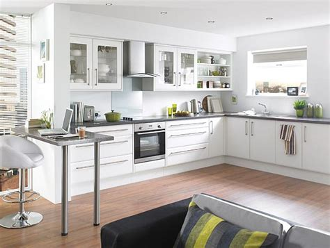 white colour kitchen modern kitchens المرسال 411 | Modern white kitchen design idea