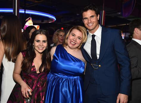 Dave And Busters Halloween 2015 by Mae Whitman And Robbie Amell Photos Photos Fan Screening