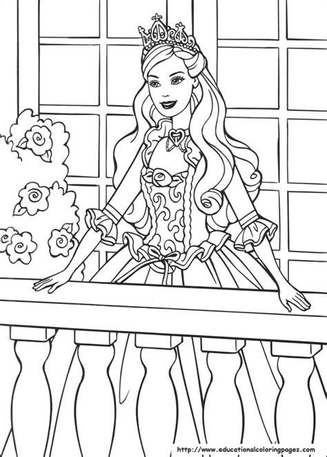 barbie princess coloring pages   kids