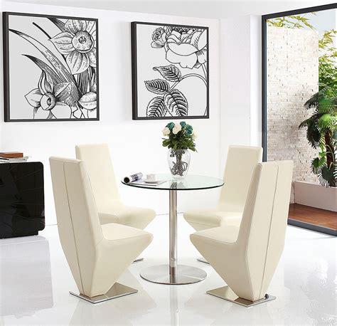 target glass dining set   ivory rita chairs